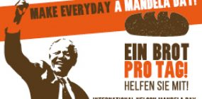 Banner zum internationalen Mandela Day