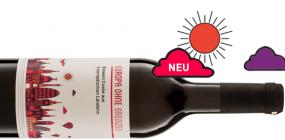 Abbildung einer Flasche Europa ohne Grenzen Rotwein Cuvée