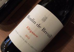 Eine Flasche 'Elégance' von Moulin de Breuil