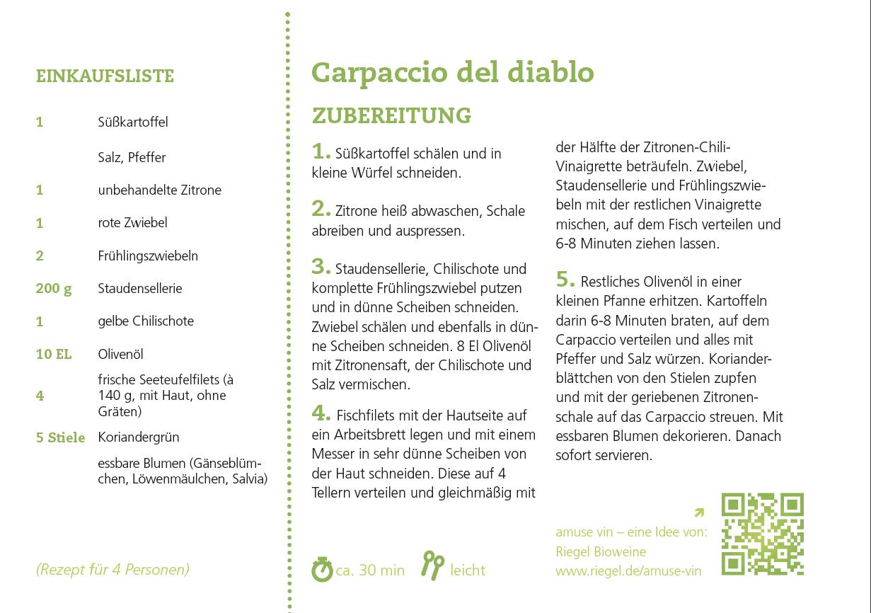 Carpaccio del Diablo trifft auf APERICENA Frizzante
